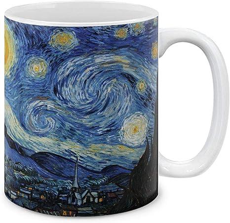 Amazon Com Mugbrew Classic Art The Starry Night Van Gogh Ceramic Coffee Mug Tea Cup 11 Oz Kitchen Dining