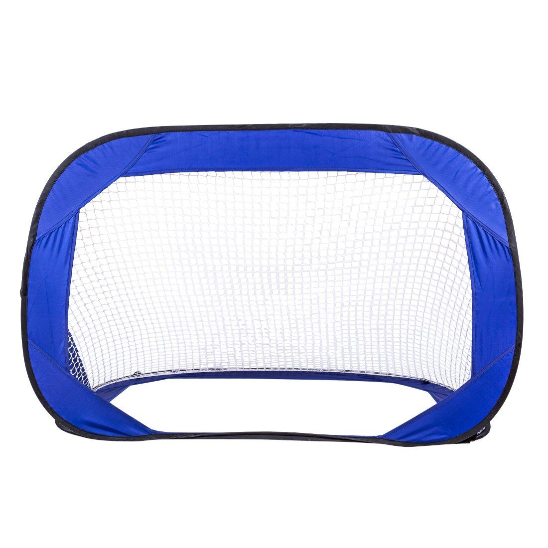 RuiyiF Kids Soccer Goal Net for Backyard Pop Up Portable Toddler Soccer Goal Toy Foldable Indoor Outdoor Toys (Blue)
