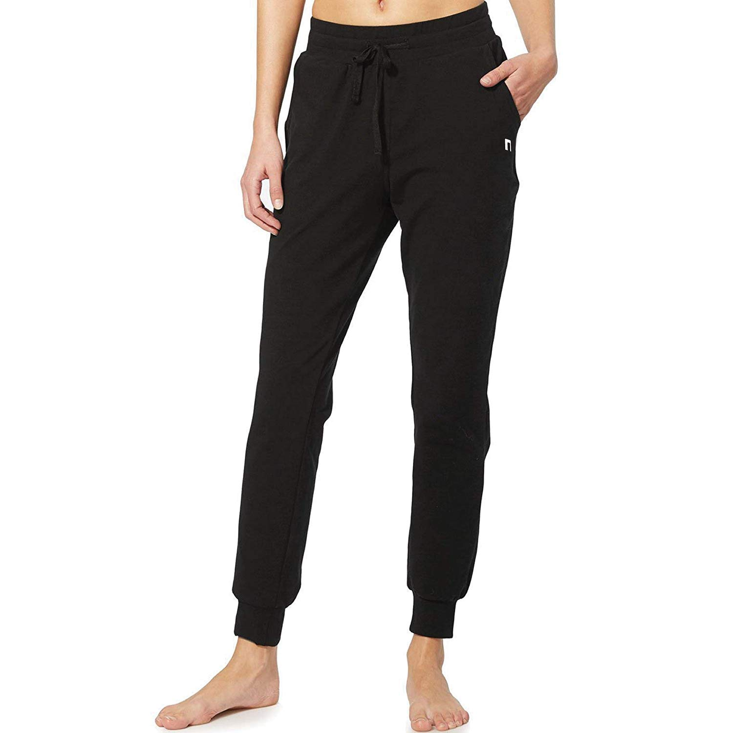 Cotton Workout Yoga Sweat Pants Black N1Fit Sweatpants Women Joggers Running