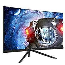 """VIOTEK GN27D 27 """" HD Gaming Curved Monitor – Seamless Performance w/ 144Hz & 1440p; FPS/RTS Optimized & Samsung VA Panel"""