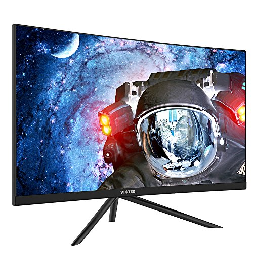 VIOTEK GN27DB 27-Inch Curved Gaming Monitor, 1440p 144Hz Samsung VA Panel, FreeSync GamePlus FPS/RTS - VESA (Black) (Best Xbox Games Out Right Now)