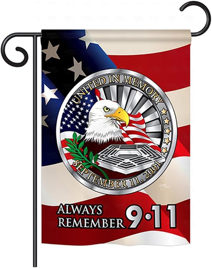 Breeze Decor G161063 Always Remember 9 11 Americana Patriotic Impressions Decorative Vertical Garden Flag 13