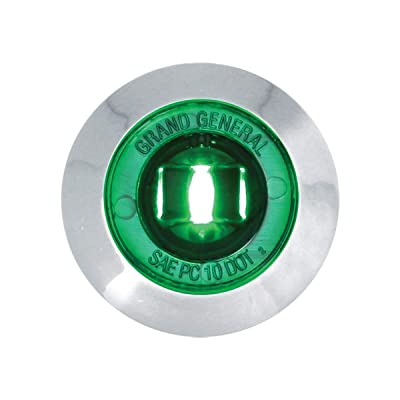 "GG Grand General 75226 Light (1-1/4"" Green 1LED Int. with Bezel and Nut, 3 Wires): Automotive"