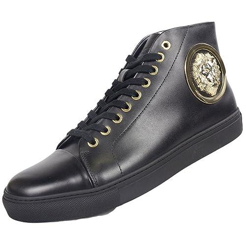 Versace - Zapatillas para Hombre Negro Negro, Color Negro, Talla 41 EU: Amazon.es: Zapatos y complementos