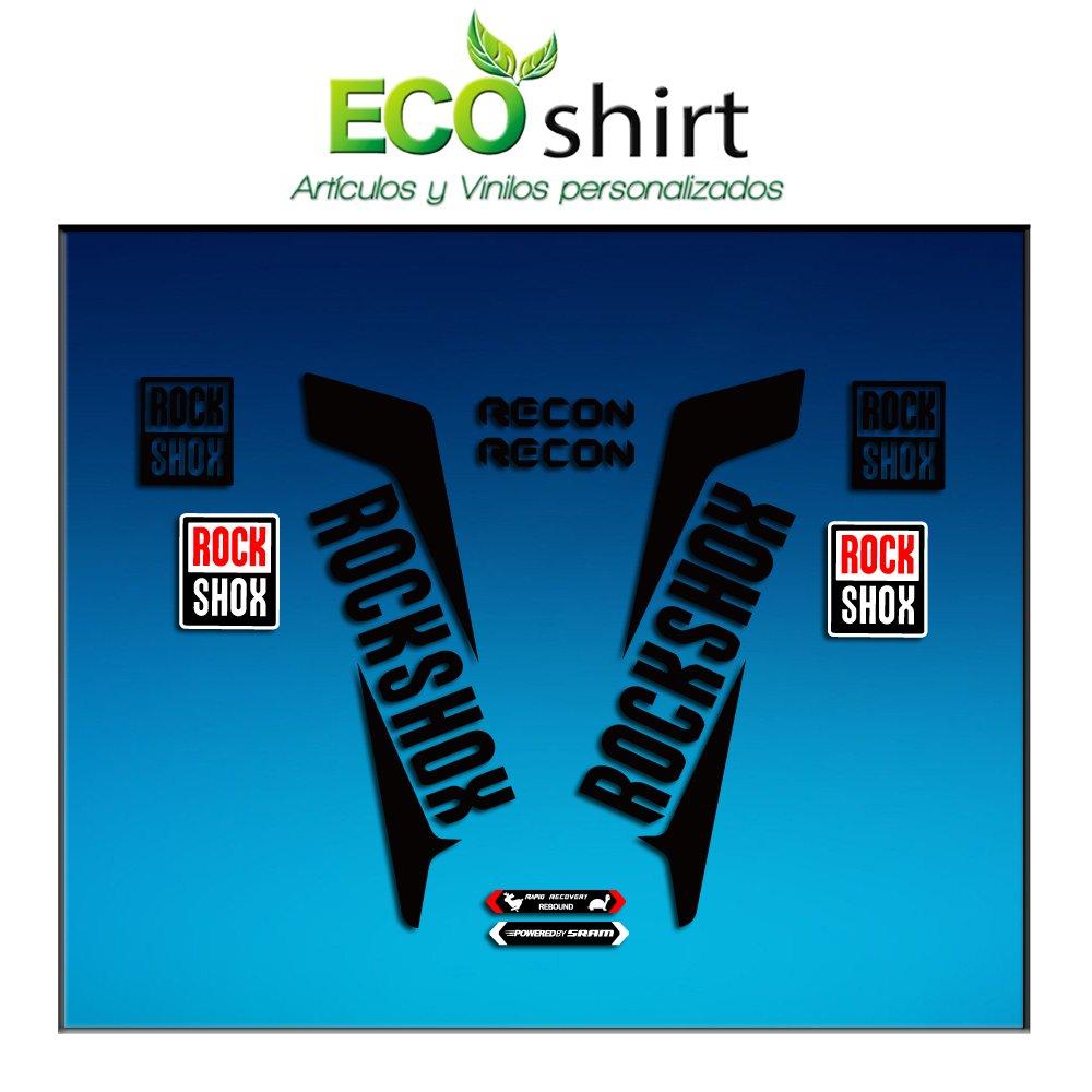 Nero 26 e 27.5 Ecoshirt 39-3H01-HUA6 Adesivo Fork Rockshox Recon 2016 Am36 Stickers Decals Sticker Bike BTT MTB Cycle