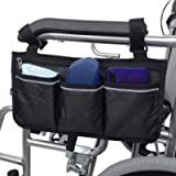Wheelchair Side Bag-Mobility Aid Package-Great for Electric Wheelchairs, Electric Scooter, Walker Accessories…