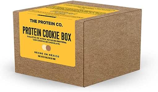Protein Cookie Box. Galletas de avena altas en proteína con chispas de chocolate adicionadas con WHEY (Proteína de suero de leche). 6 galletas por caja.