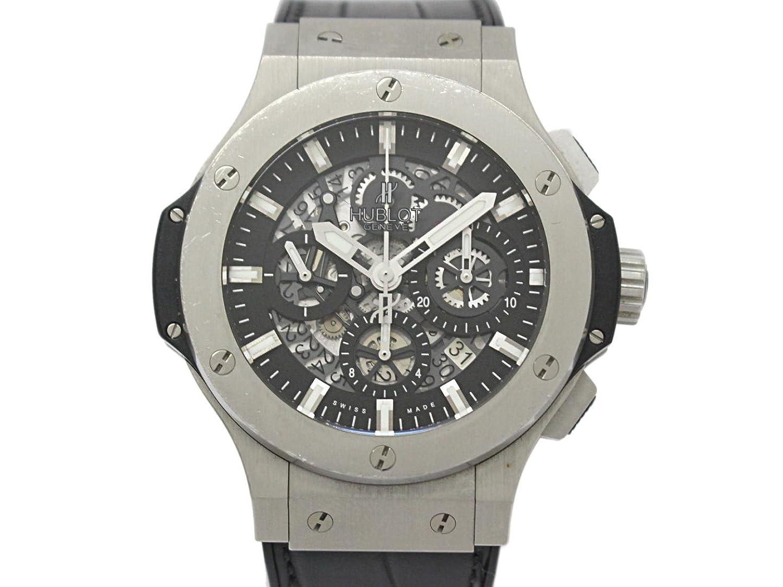 [ウブロ] HUBLOT ビッグバン アエロバン ウォッチ 腕時計 ブラック ステンレススチール(SS)×ラバーベルト 311.SX.1170.GR [中古] メンズ B07DND8RN9
