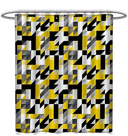 Image Unavailable Not Available For Color Yellow White Shower Curtains
