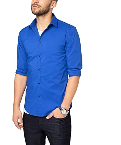 ESPRIT Collection Herren Businesshemd 076EO2F001, Blau (Blue 2 431), Kragenweite: 39 cm (Herstellerg...