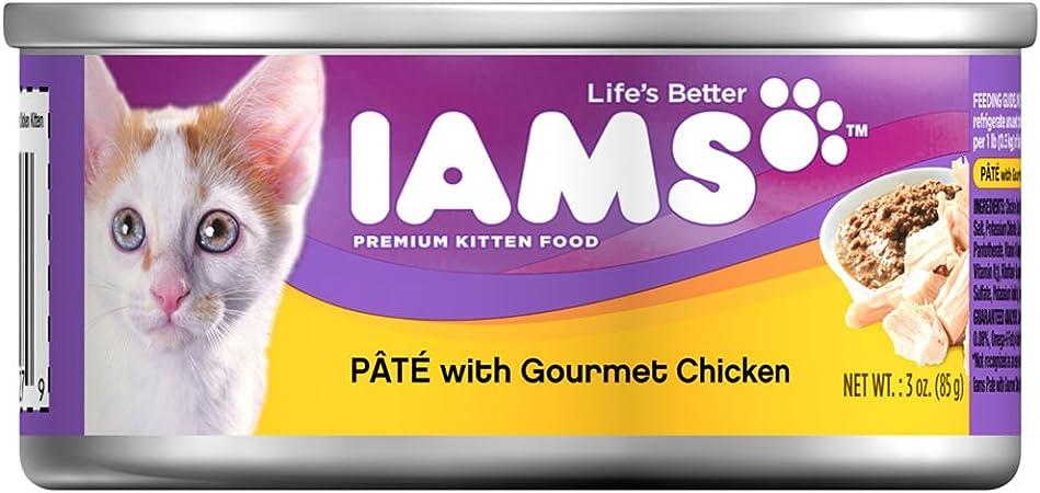 Amazon Com Iams Pate Kitten Wet Cat Food Chicken 3 Oz Pack