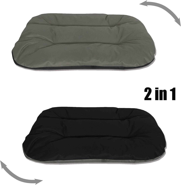 BedDog® Rex 2en1 Antracita/Gris L Aprox. 80x60x11cm colchón para ...