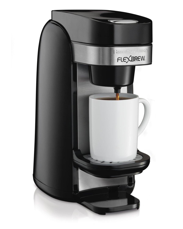 Hamilton Beach 49997 Single Serve Coffee Maker, Flexbrew Uses Ground or K-Cups