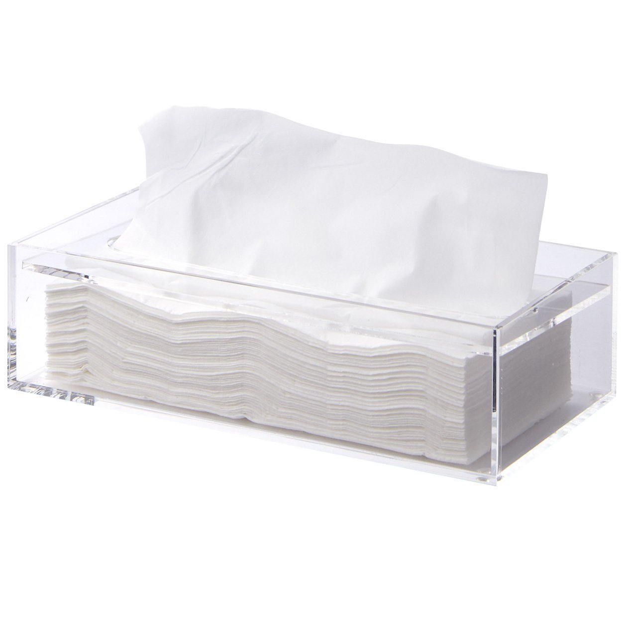 MUJI Clear Acrylic Bathroom Facial Tissue Dispenser Box Storage Case Cover Container / Decorative Napkin Holder by Muji