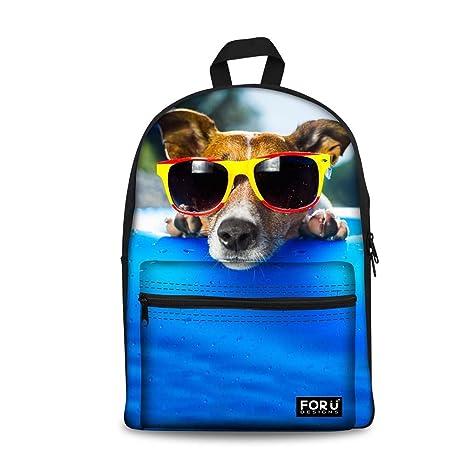 785434224728 HUGS IDEA Cute Pet Dog Print Kid School Bag Jack Russell Terrier ...