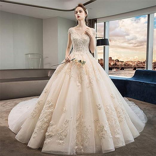 Vestido de Novia Vestido Vestido de Novia con Escote en V Profundo ...