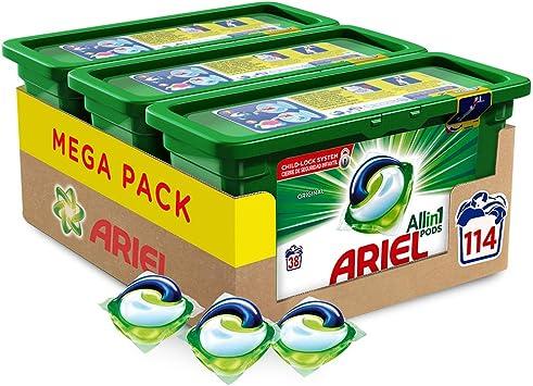 Ariel Allin1 PODS Original Detergente en cápsulas superconcentrado ...