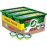 Ariel Allin1 Pods Original - Detergente en cápsulas para la lavadora, 114 lavados (3 x 38)