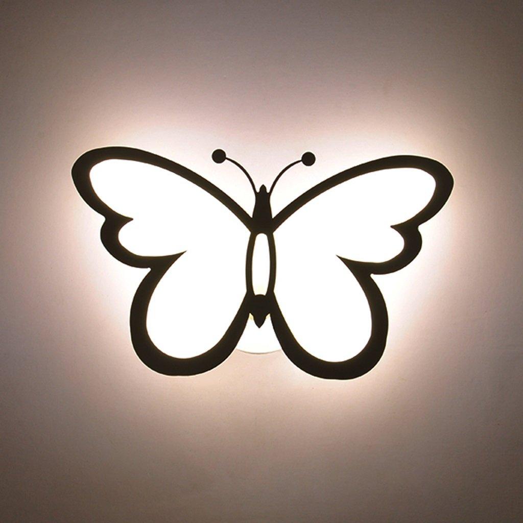 Unbekannt Met Love Schlafzimmer Wandleuchte kreative Wohnzimmer Hintergrund Wand Gang Treppe Schmetterling Männer und Frauen Kinderzimmer Deckenleuchte