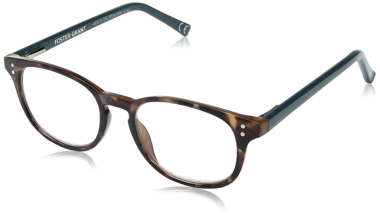 e01ba904a9 Amazon.com  Foster Grant Women s Elodie 1017869-100.COM Round Reading  Glasses