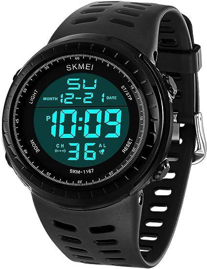 Amazon.com: Reloj deportivo digital para hombre, LED ...
