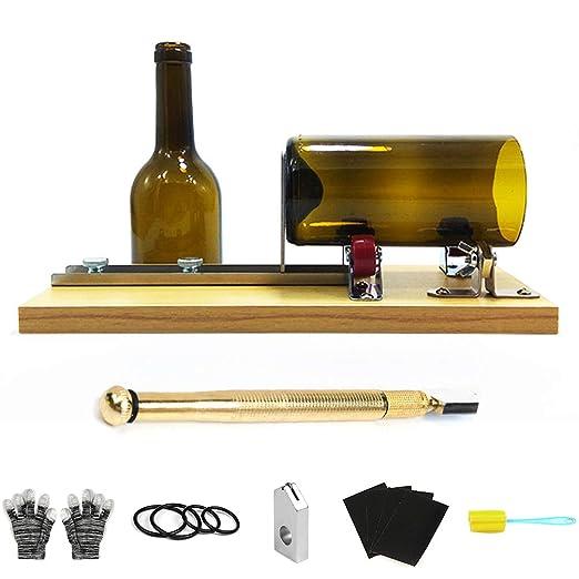 Kit de cortador de botellas de cristal, acero inoxidable, hecho a ...