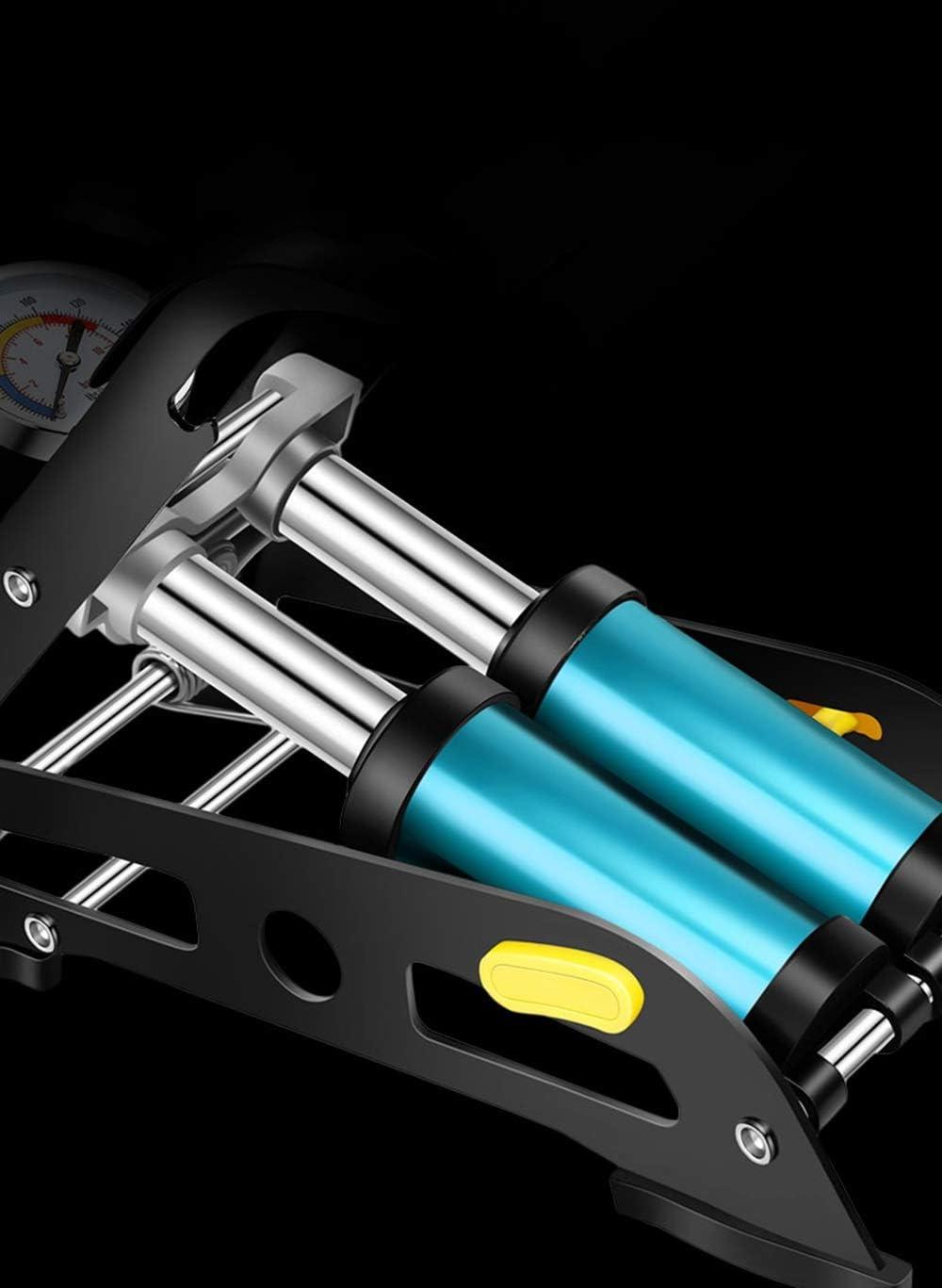 Color : Blue CVXCVCBCG Pompe /À Air De Voiture Pompes pour Auto Double Cylindre avec Manom/ètre De Pr/écision pour Voiture Pneu De V/élo Pneu De Moto Pneu