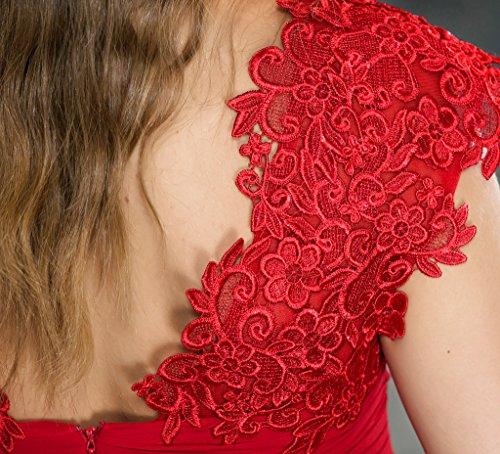Coloredress V-cou Robe De Demoiselle D'honneur En Mousseline De Soie Maxi Dentelle Taille Des Robes De Bal 8