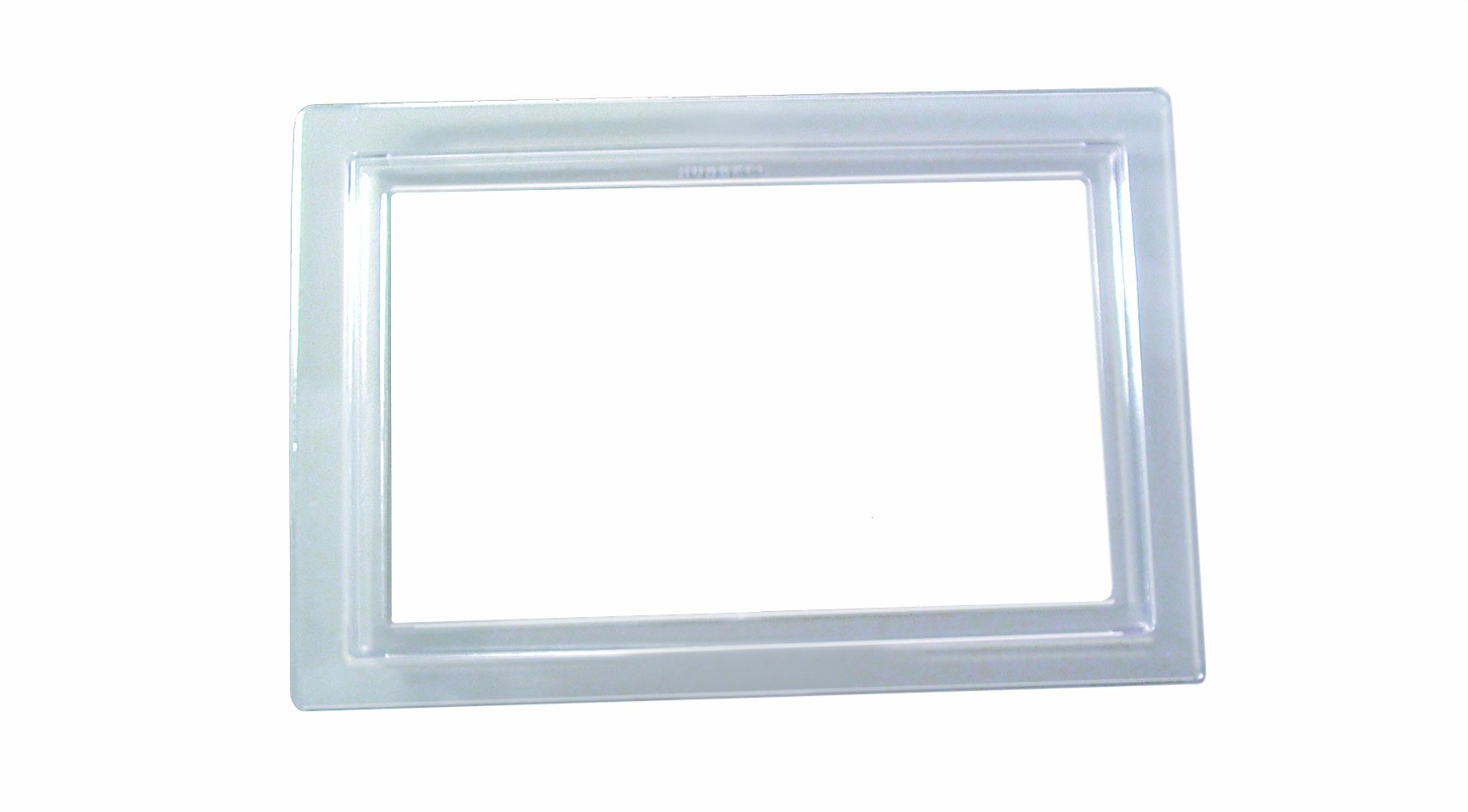 Hubbell-Raco 6295 1-Gang Rectangular Clear Polycarbonate Carpet Flange