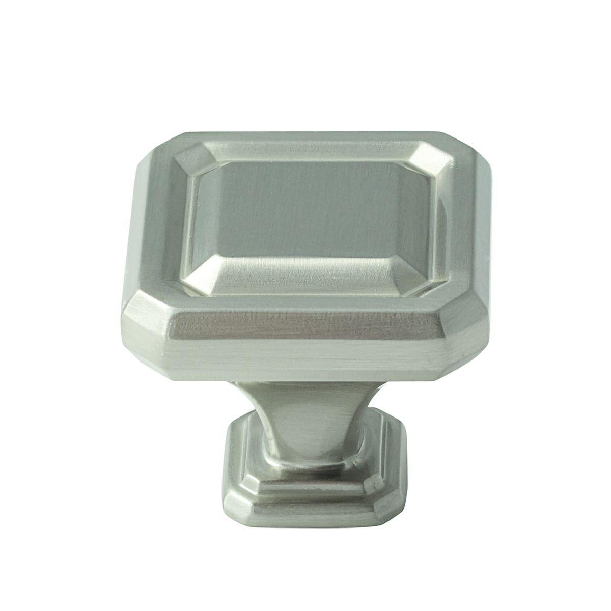 Amerock BP36547G10 100 Pack 1-1/2in. Wells LGTH Knob, Satin Nickel
