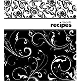 Recipe Binder Set with Plastic Page Protectors and Recipe Cards, Black and White