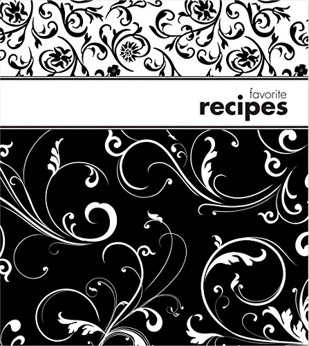 th Plastic Page Protectors and Recipe Cards, Black and White (White Pasta Recipes)
