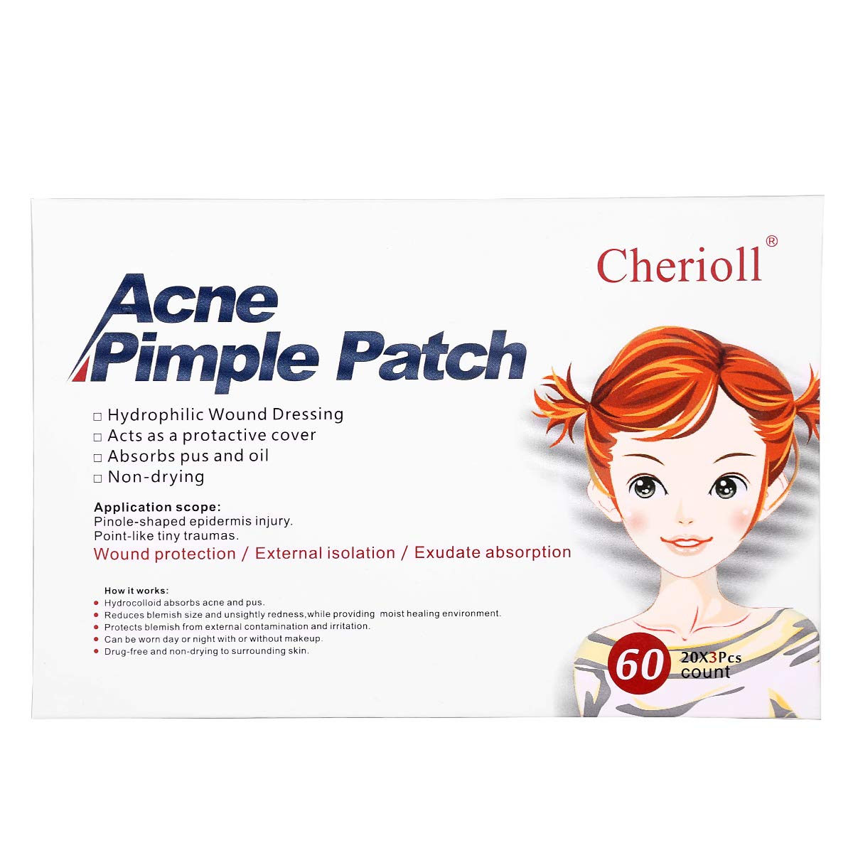 Universal Acne stickers Patch Absorbing Cover 60 Count Cherioll