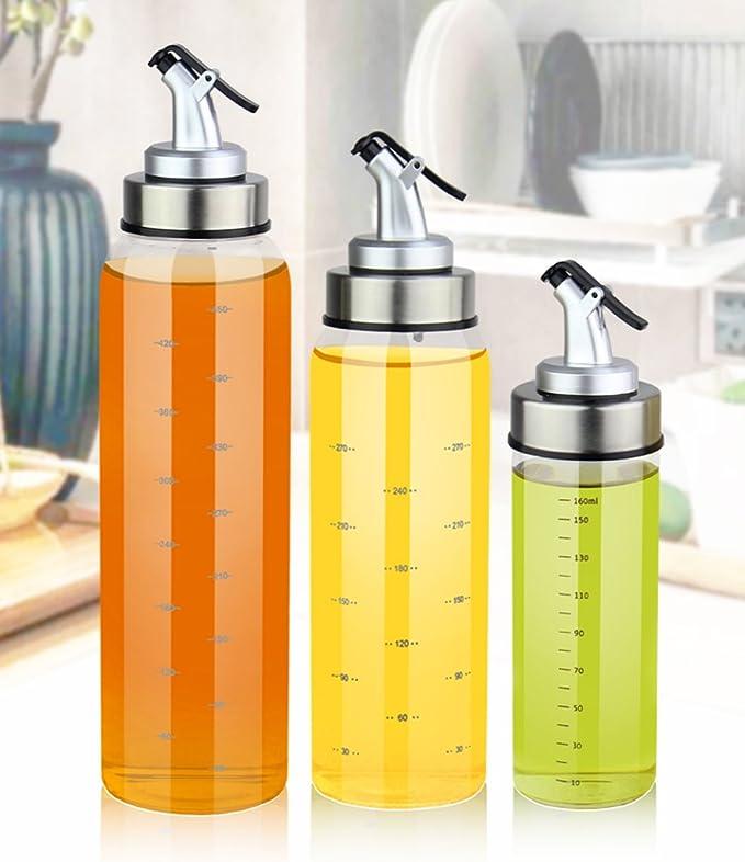 aceitera vinagrera, botella de aceite, botella para aceite, 300ml: Amazon.es: Hogar