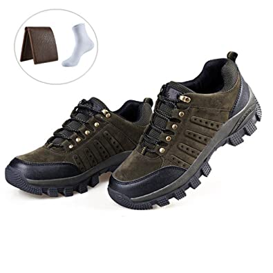 Hiking Shoes Men Women Waterproof Lightweight Running Shoes With Free Hiking Socks and Leather Wallet