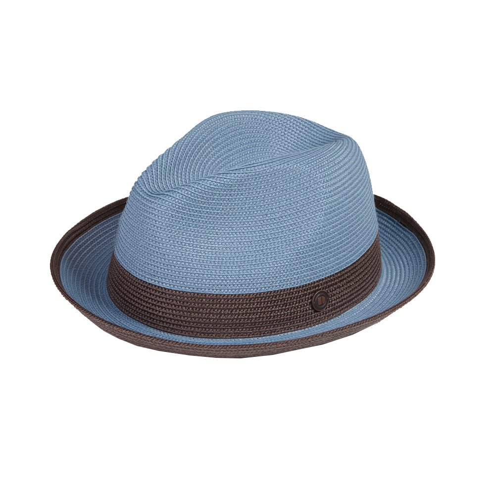 Dasmarca Mens Summer Crushable & Packable Straw Fedora Hat - Florence
