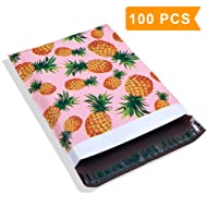 Poly Mailer Bags-100 Pack #5 12x15.5 Inch 2.35MIL Pineapple Designer Shipping Envelope Mailers Boutique Custom Bags For UCGOU