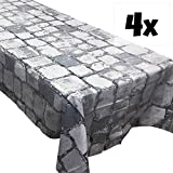 Cobblestone Tablecovers (4), Great for Dragon or Medieval Parties, RPGs and Gaming Get-Togethers, Minecraft Parties