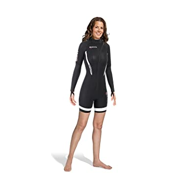 Mares Monosuit 2nd Shell Shorty She Dives - Traje de Buceo para Mujer, Color Negro