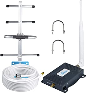 Cell Phone Booster AT&T Cell Phone Signal Booster for Home AT&T T-Mobile Cricket 4G LTE 700mhz Band 12/17 Signal Booster Cell Booster Mobile Phone Signal Amplifier Yagi Antenna Kit Boosts Data/Calls