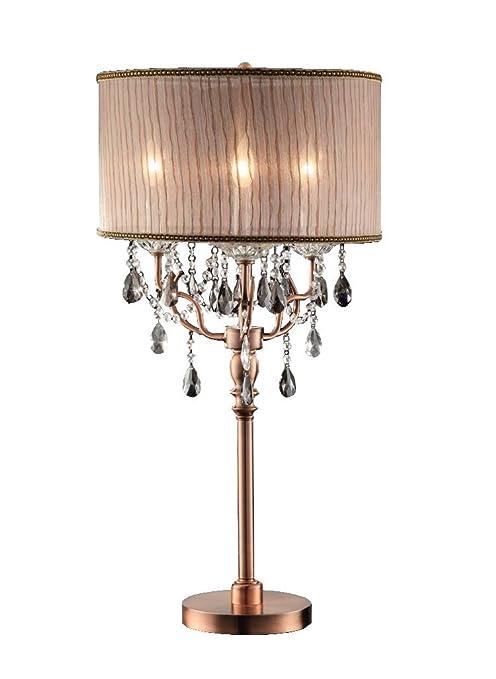 Amazon.com: ok-5126t 35-Inch Rosie vidrio Lámpara de mesa ...