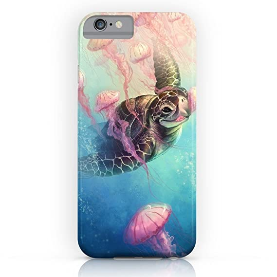new styles 7f63e a0bf8 Roses Garden Phone Case Protectivedesign Hard Back Case Sea Turtle and  Jellyfish Slim Case for iPhone 7
