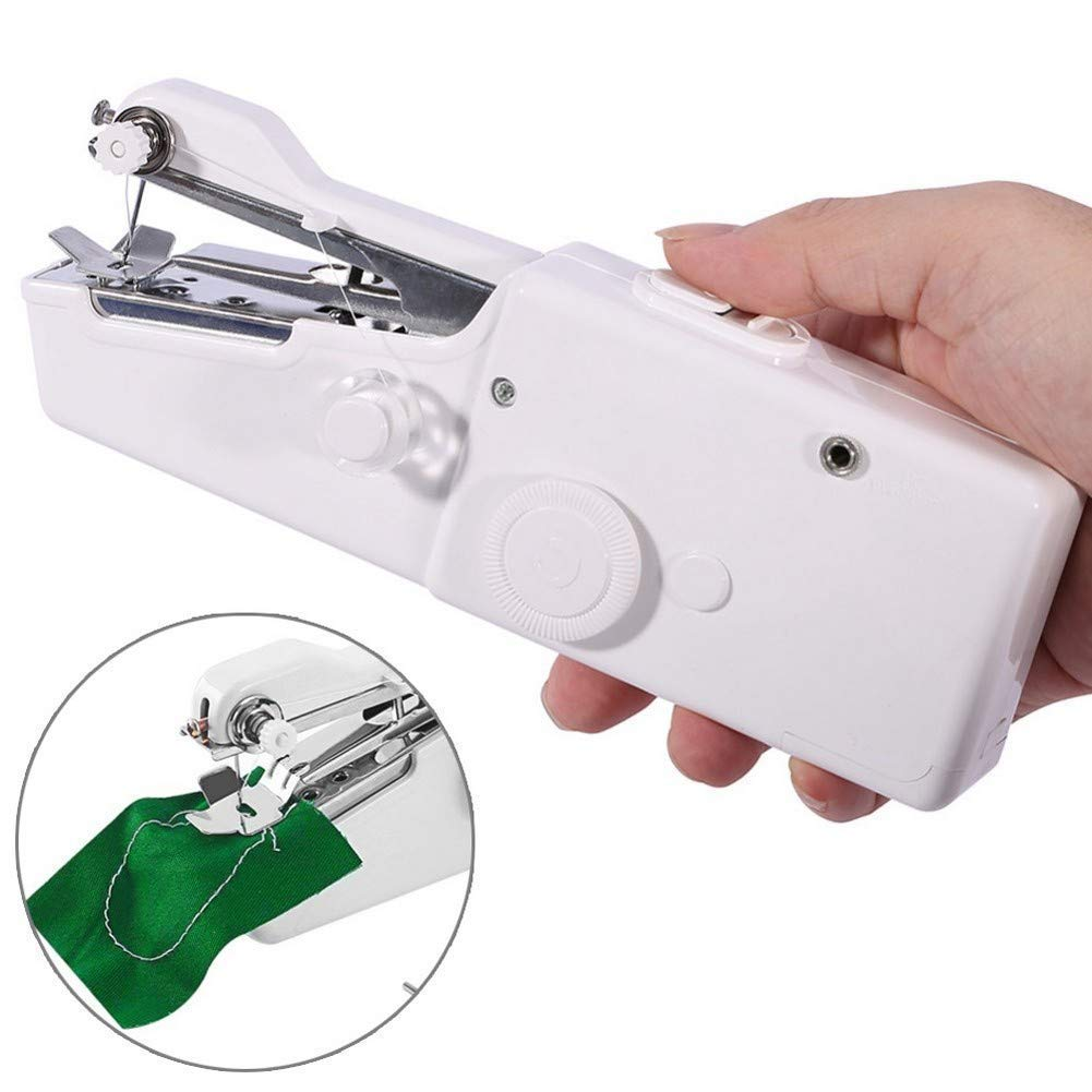 MEYUEWAL Macchina da Cucire Portatile, Mini Macchina da Cucire Strumento Manuale Portatile Wireless Professionale - Strumento di Cucitura Rapida per Tessuti