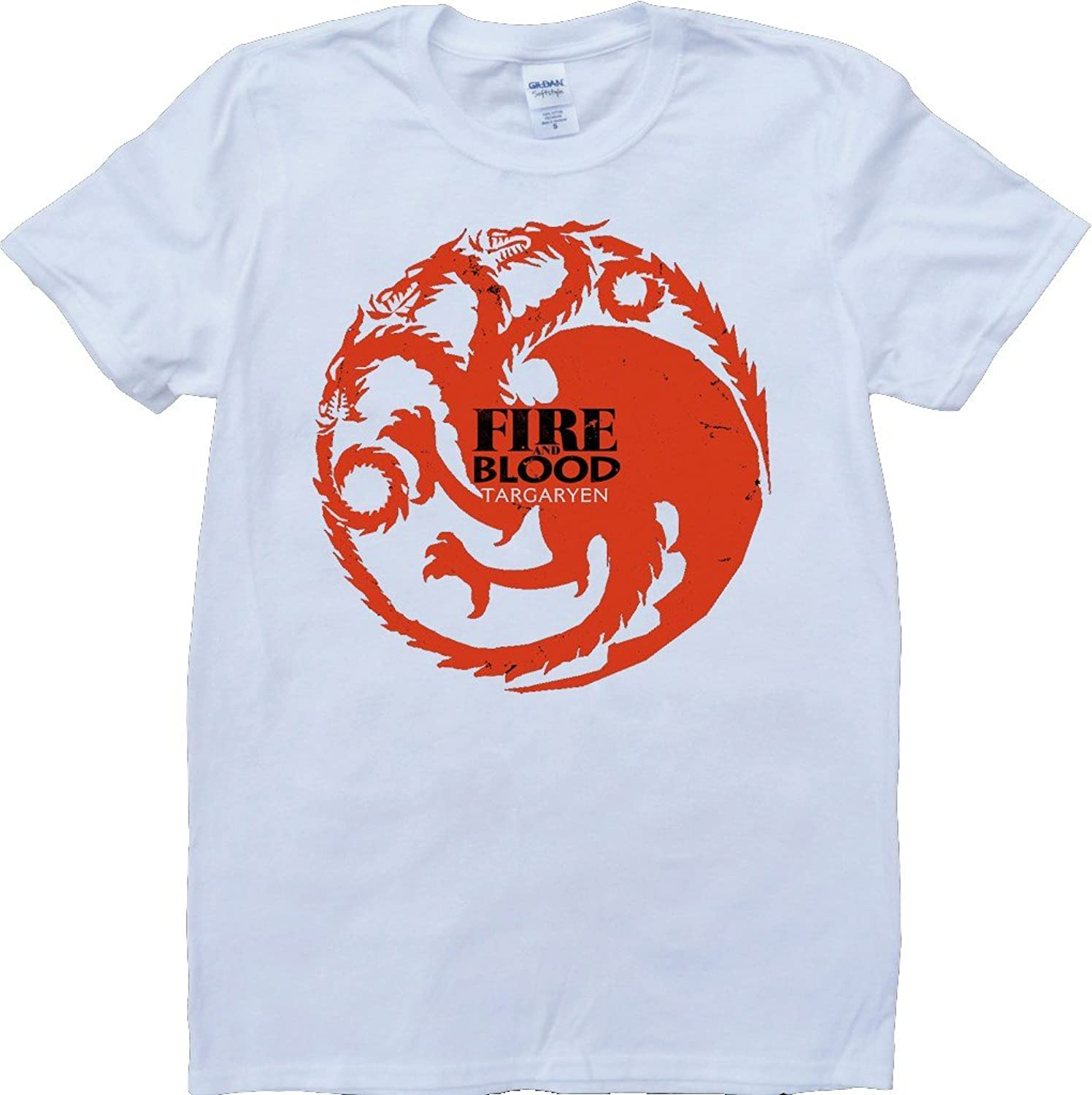 Game Of Thrones House Targaryen Fure And Blood Short Sleeve Custom Made T-Shirt