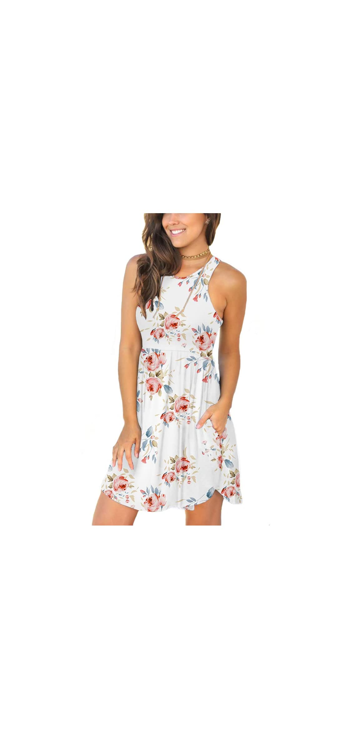 Women's Summer Casual T Shirt Dresses Swimsuit Cover