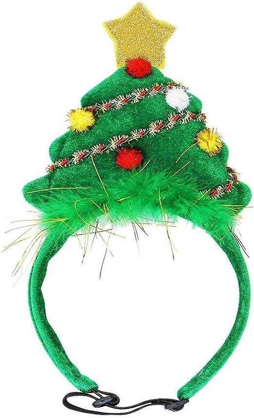 ZZM - Diadema para Disfraz de árbol de Navidad, Gatos, Perros ...