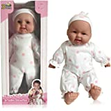 3 Bees & Me Baby Doll for Toddlers Girls and Boys - Hispanic - Soft Huggable Baby Doll Girl with Removable Clothes, 14 inch