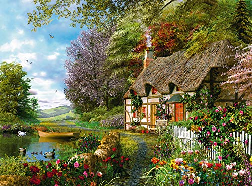 Ravensburger Country Cottage 1500 Piece Jigsaw Puzzle for Adults - Softclick Technology Means Pieces Fit Together Perfectly