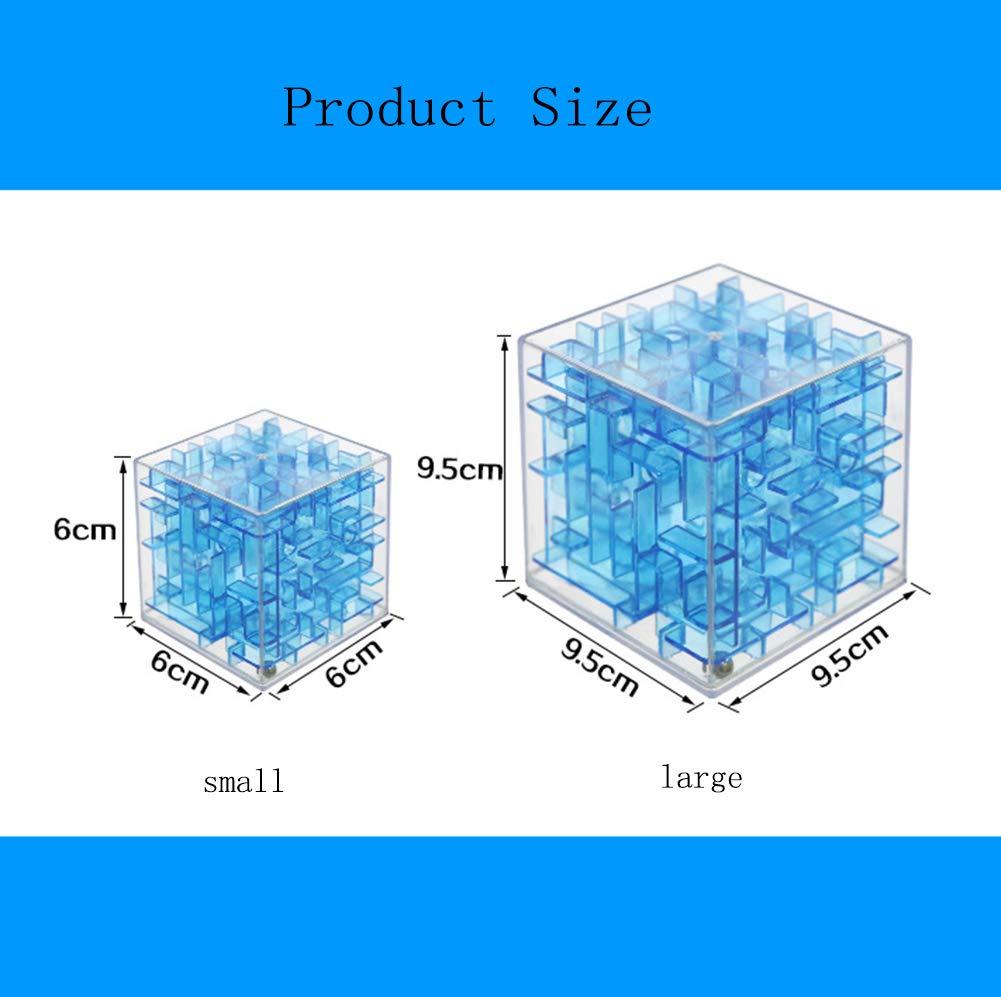 SHENSHOU Kinder Puzzle Zauberw/ürfel 3D Maze Rolling Beads Fr/ühe Bildung Intelligenz Rubik Spielzeug,Blue,S