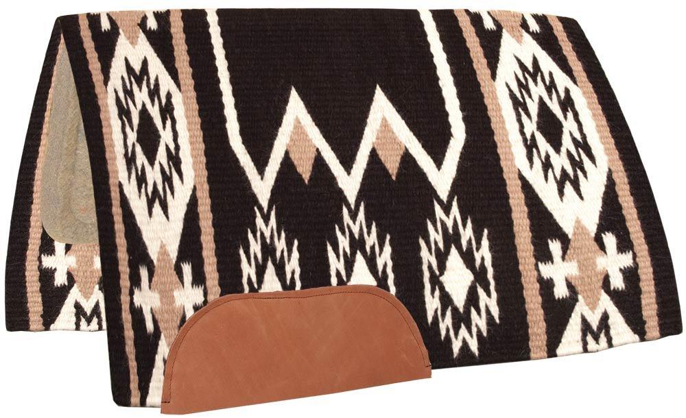 Black White Southwestern Equine Wool Horse Show Blanket Reinmaker Navajo Saddle Pad 100% New Zealand Wool Top Blanket